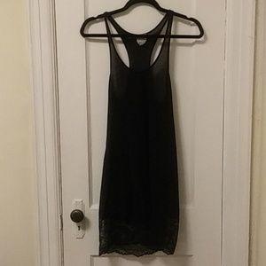 Free People Black Lace Bottom Dress